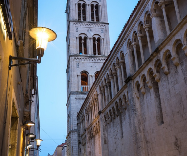Early evening rush in old town of Zadar, Croatia
